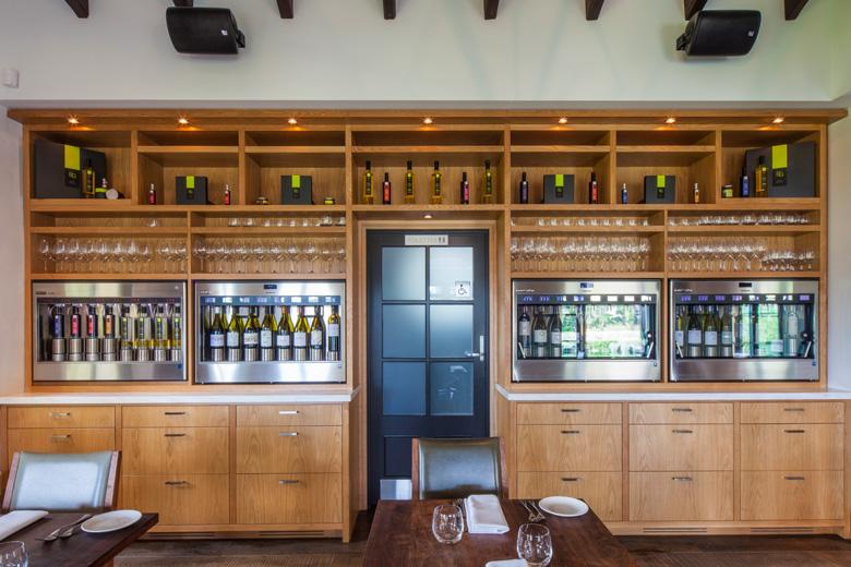 Bisto Gentil's self service wine machine