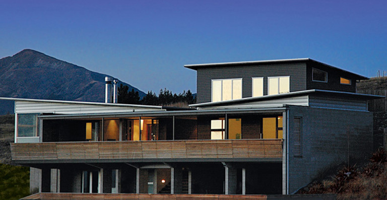Main profile of architectural client's home in Hogan Lane, Wanaka