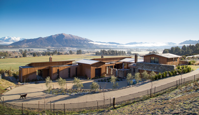 Image of client's house on Kane Rd overlooking Wanaka's mountains