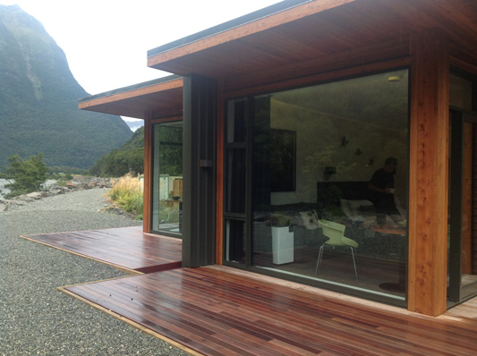 Milford Sound Lodge cabins