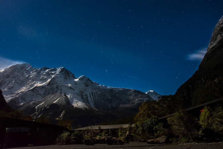 Awesome picture of Milford Sound at night