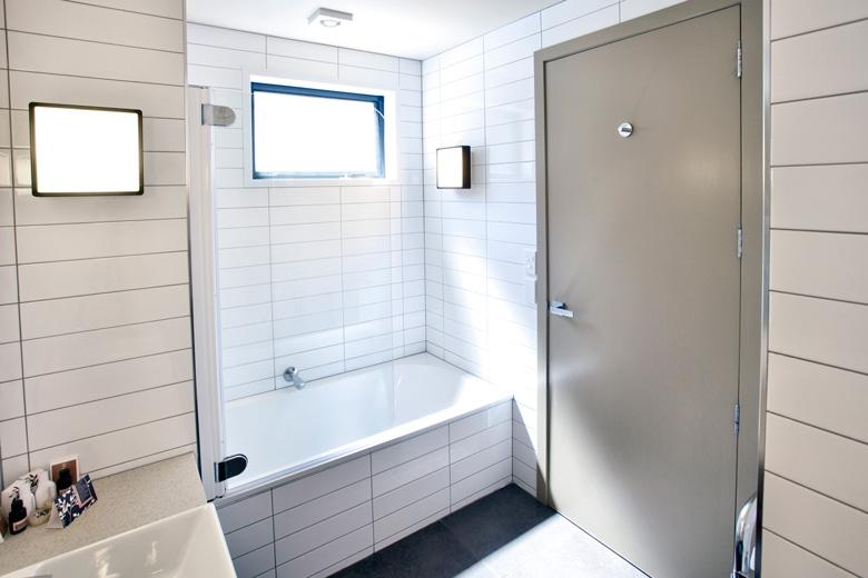 A bathroom's bathtub