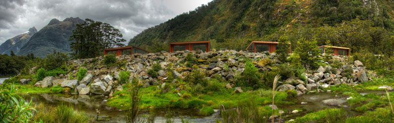 Photo depicting how unobtrusive lodges are to environmental backdrop
