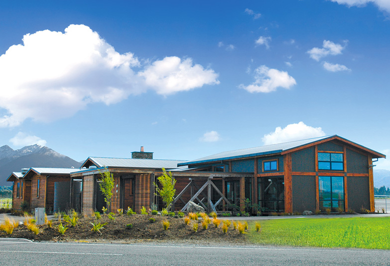 Image of the Te Anau airport as seen from the road