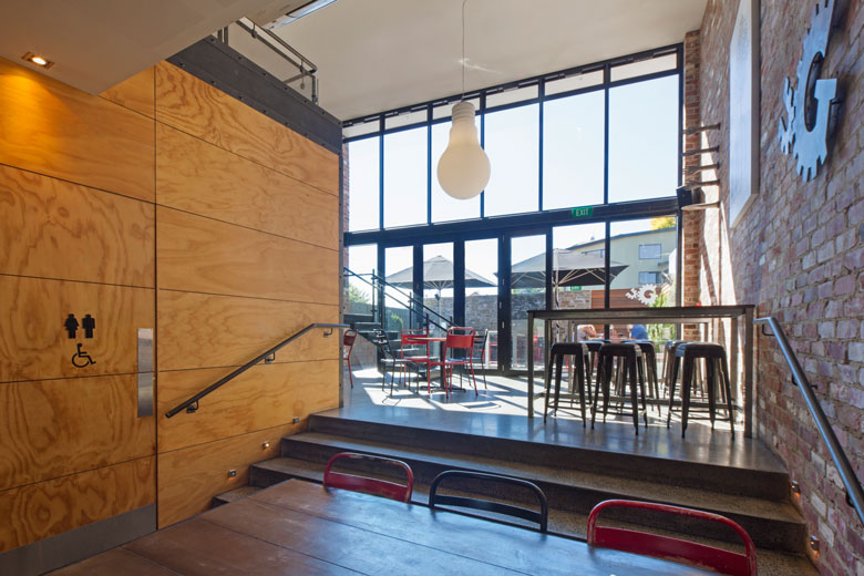 Photo of dining area and through to outside