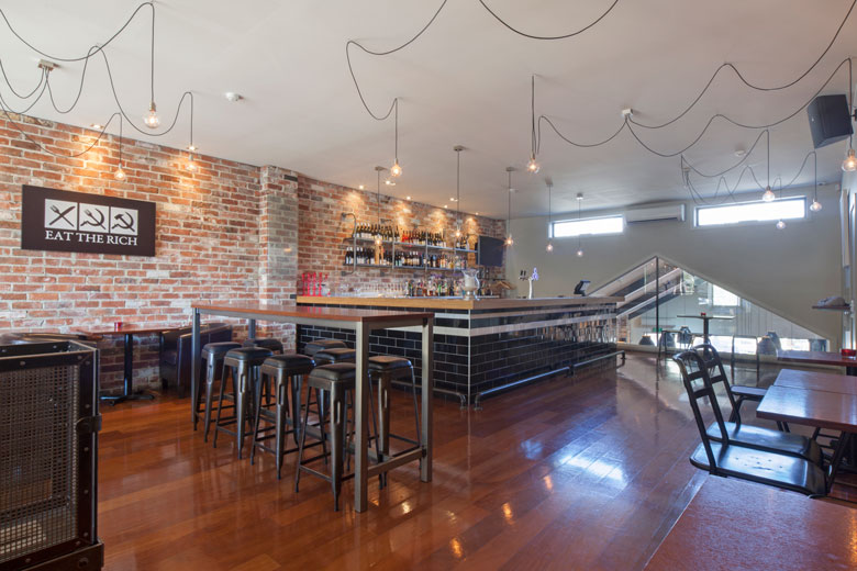 Photo of the upstairs, Urban Grind bar