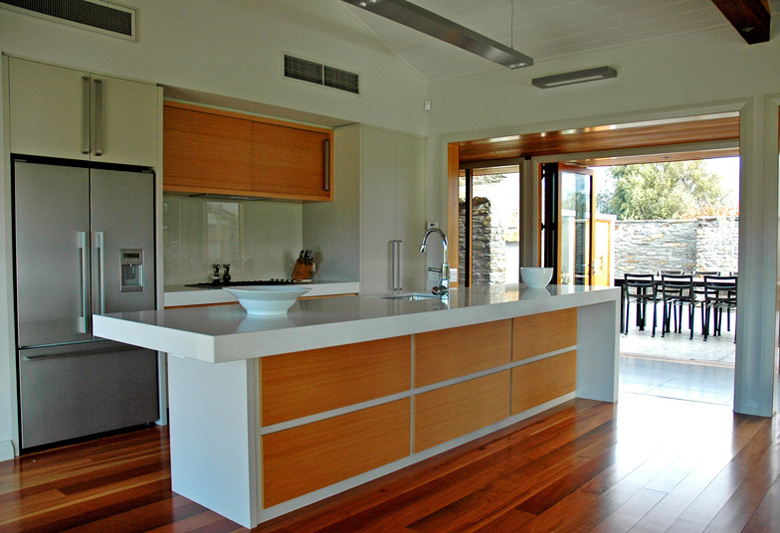 Image of kitchen with view of outdoor area