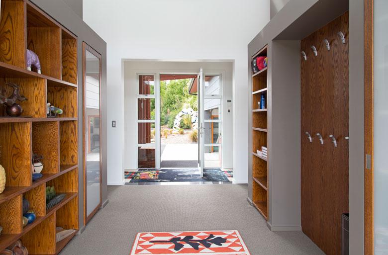 Home's coat and storage area