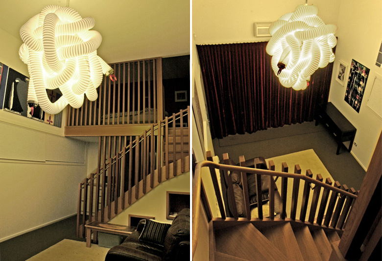 Picture of interesting light shade and staircase