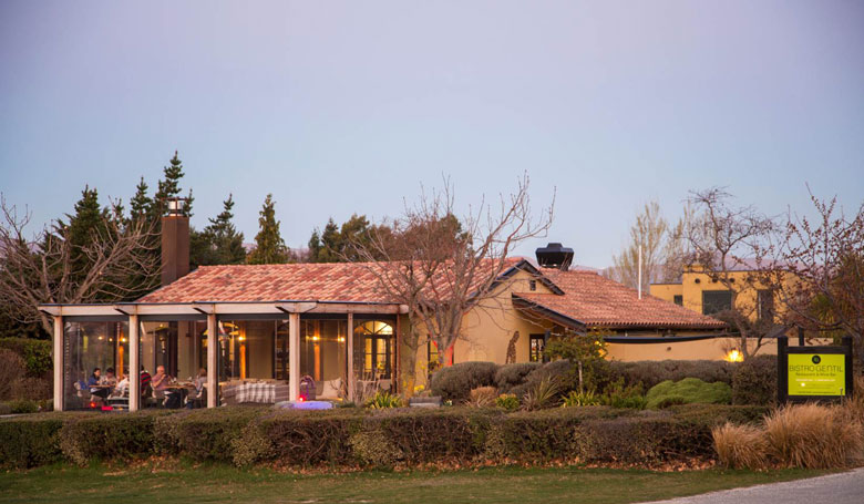 A view of Bistro Gentil from Golf Course Rd