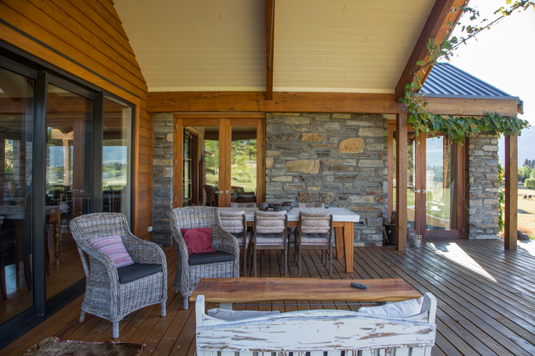 Picture of tables and chairs on outdoor living area