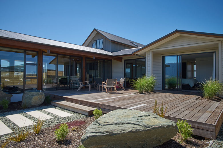 View of Te Anau house from patio