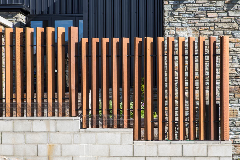 Photo of house's outdoor fence