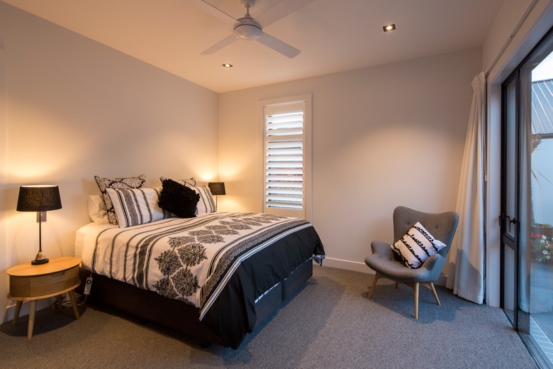 Picture of bed in bedroom