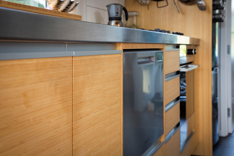 Image of kitchen bench and dishwasher